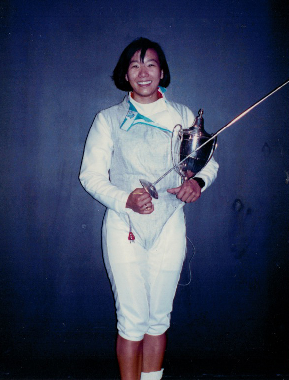 Jennifer Yu, National Champion Women's Foil, 1990